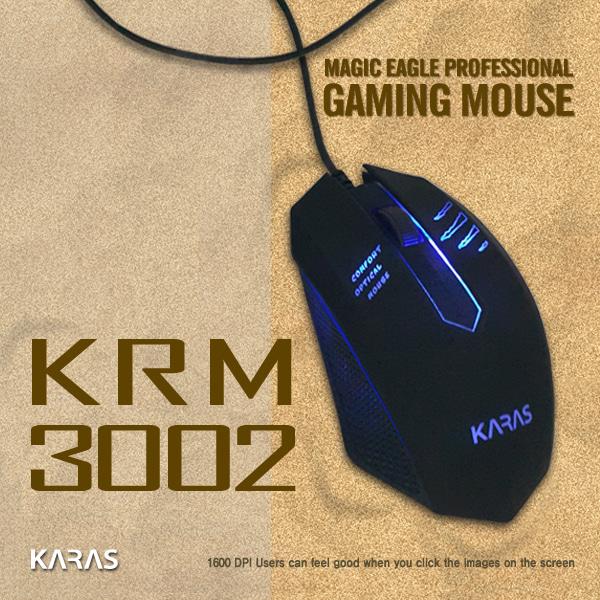 카라스 보급형 게이밍마우스 KRM-3002