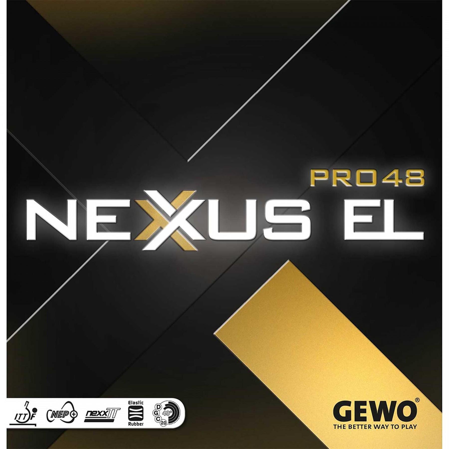 GEWO NEXUS EL PRO 48 블랙 러버