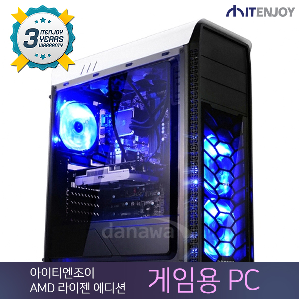 AMD 라이젠 게임용 PC K3243 AMD 라이젠 7 1700/16G/GTX1070/SSD