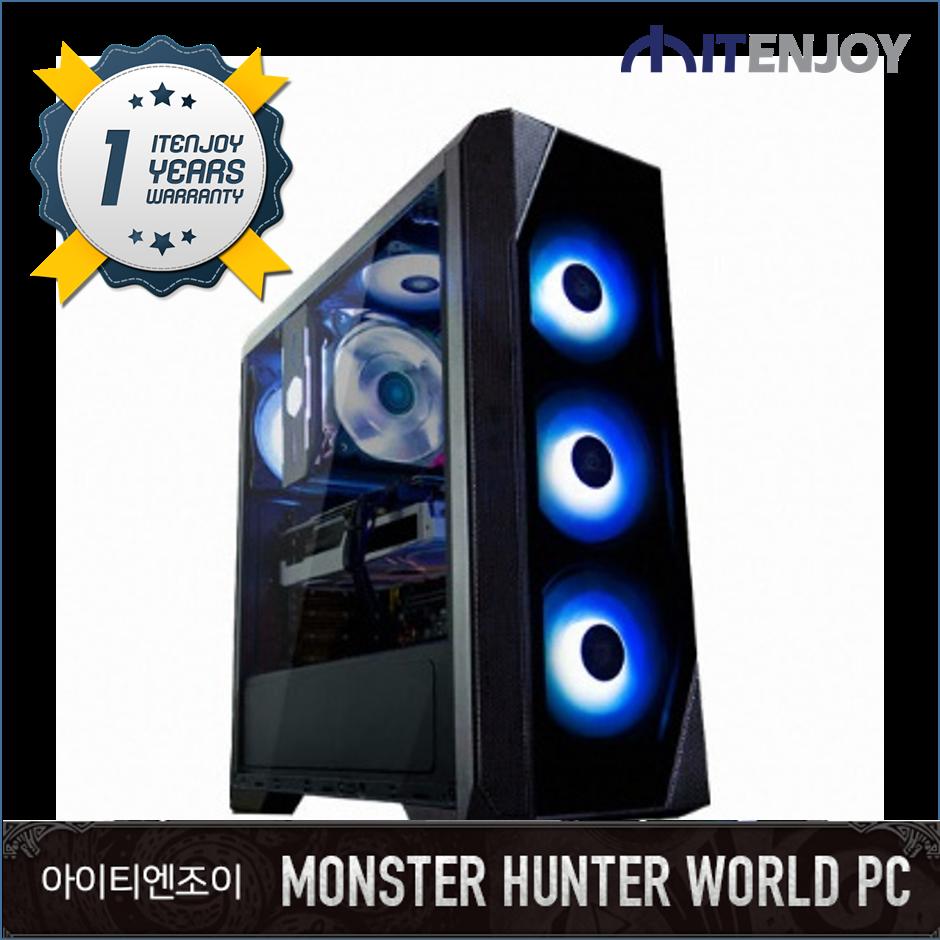 몬스터헌터 월드 게임용 G3358 AMD 라이젠 5 3600/16G/RTX 2070/SSD/3년보증(1년무상출장AS)/윈도우 미포함