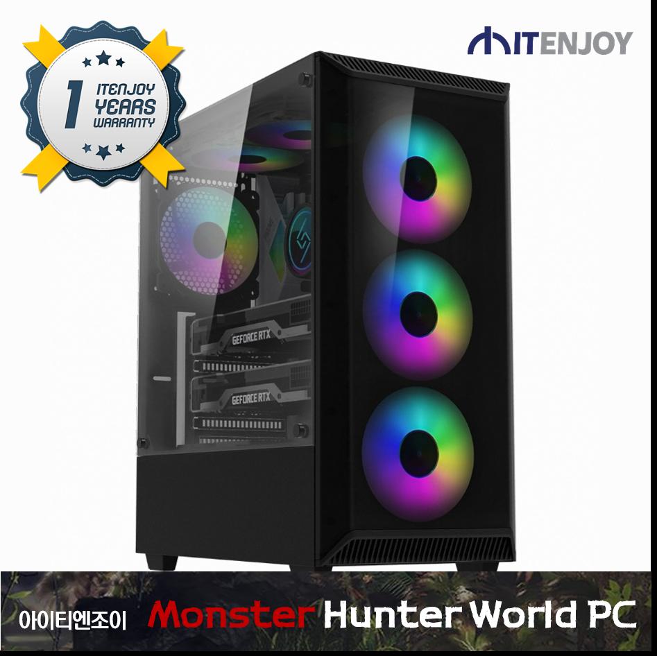 몬스터헌터 월드 게임용 G3358 AMD 라이젠 5 3600XT/16G/RTX 2070 SUPER/SSD/3년보증(1년무상출장AS)/윈도우 미포함