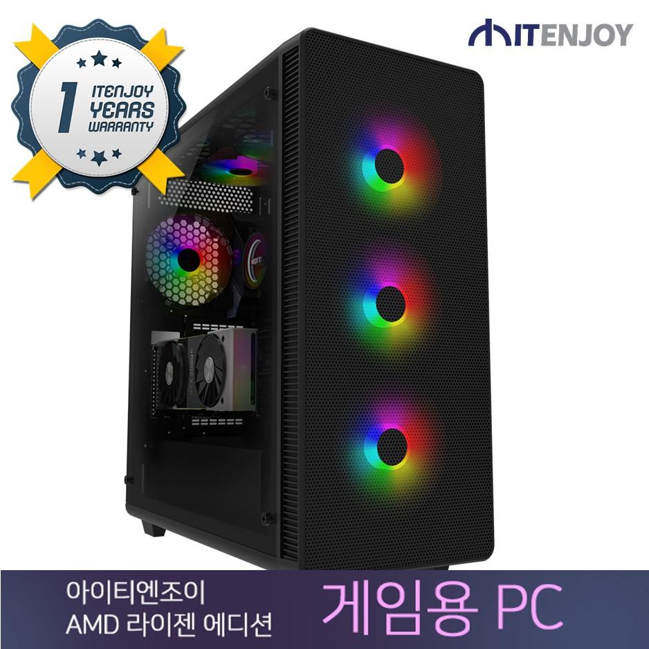 AMD 라이젠 게임용 PC K3456 AMD 라이젠 7 1800X/16G/GTX1080/SSD