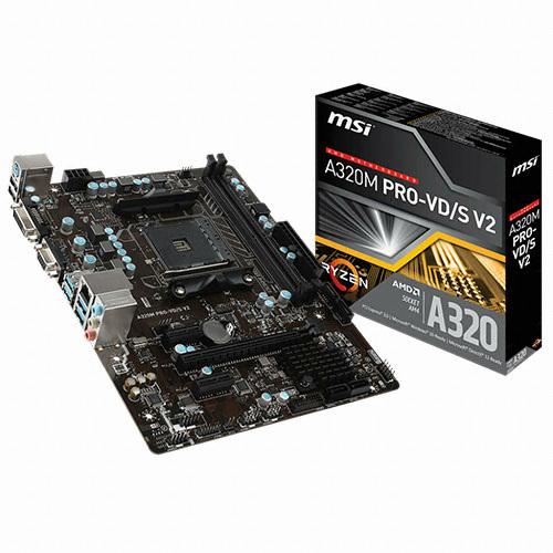 MSI A320M PRO-VD/S V2 - AMD 50주년 한정판매
