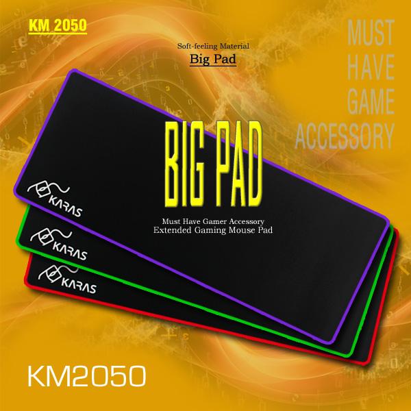 KARAS 장패드(빅패드) KM-2050 (블랙-퍼플라인)